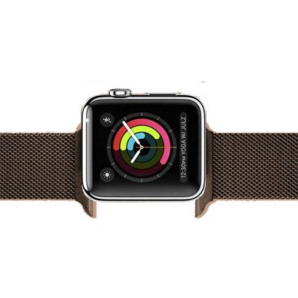 123Watches Apple watch milanese band - bruin