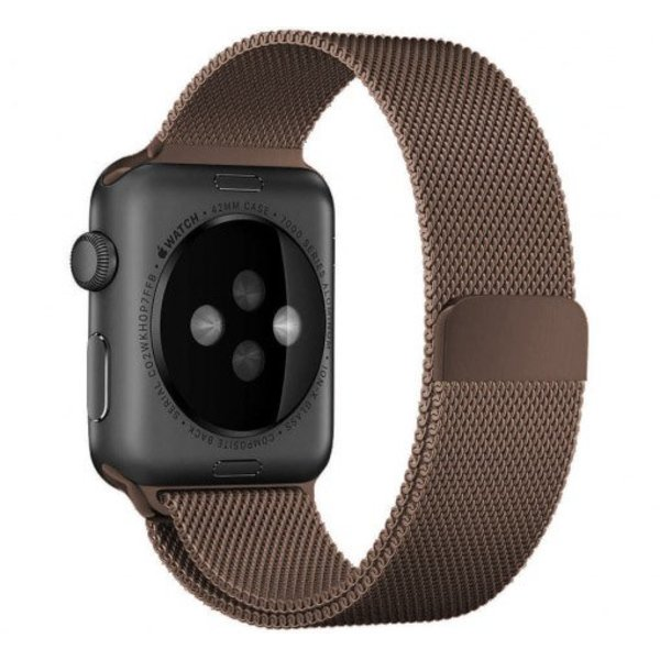 123Watches.nl Apple watch milanese band - bruin