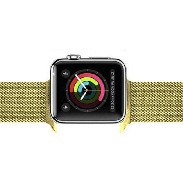 123Watches Apple watch milanese band - goud