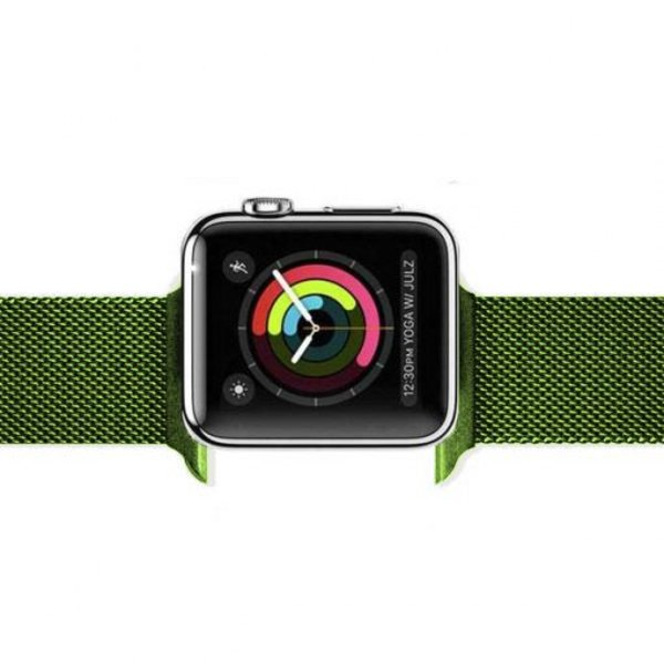 123Watches Apple watch milanese band - green