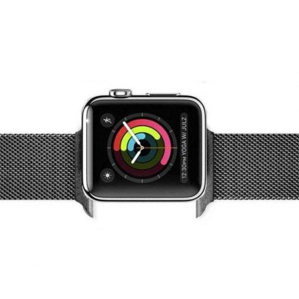 123Watches Apple watch milanese band - gun zwart