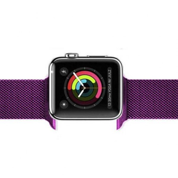 123Watches Apple watch milanese band - violet