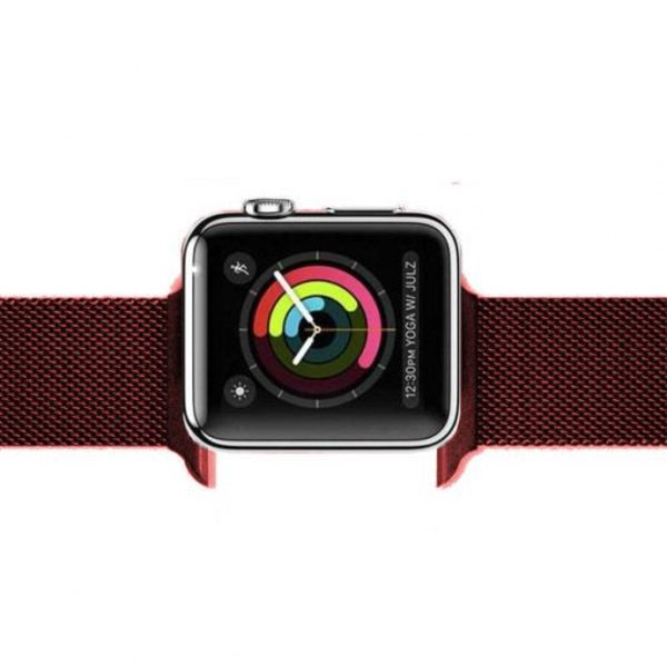 123Watches Apple watch milanese band - rouge