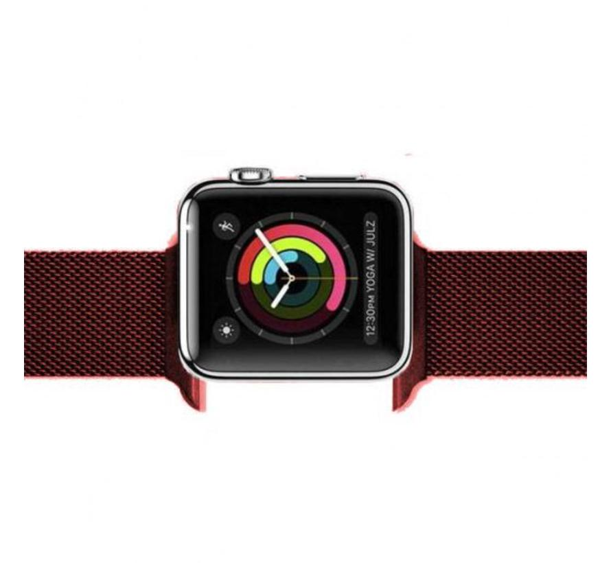 Apple watch milanese band - red