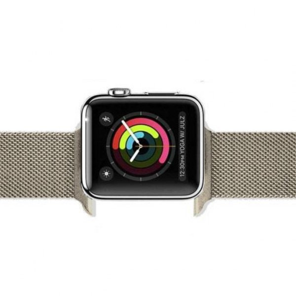 123Watches Apple watch milanese band - retro gold