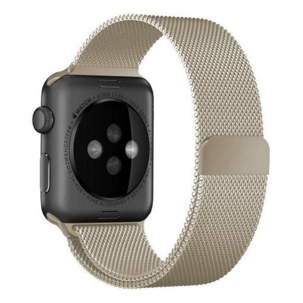 123Watches Apple watch milanese band - retro goud
