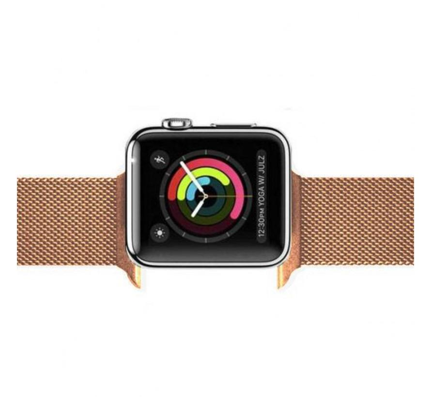 Apple watch milanese band - rotgold