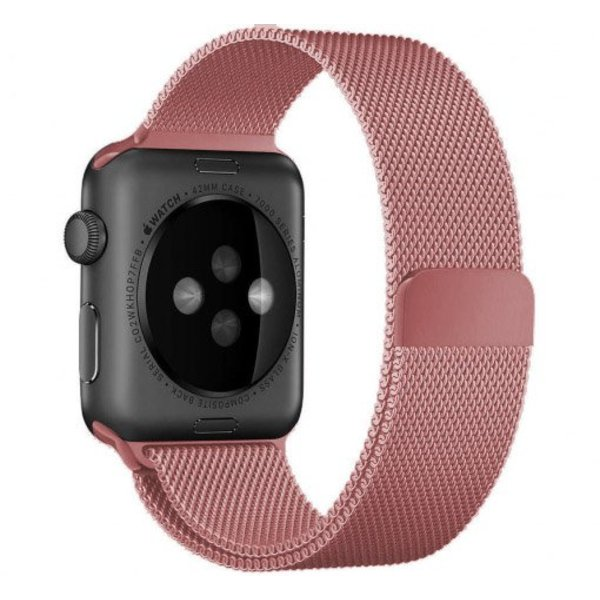 123Watches.nl Apple watch milanese band - rose rood
