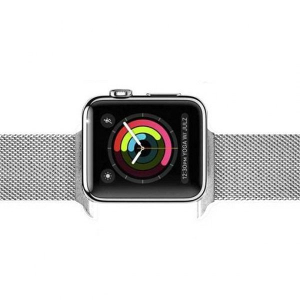 123Watches.nl Apple watch milanese band - silber