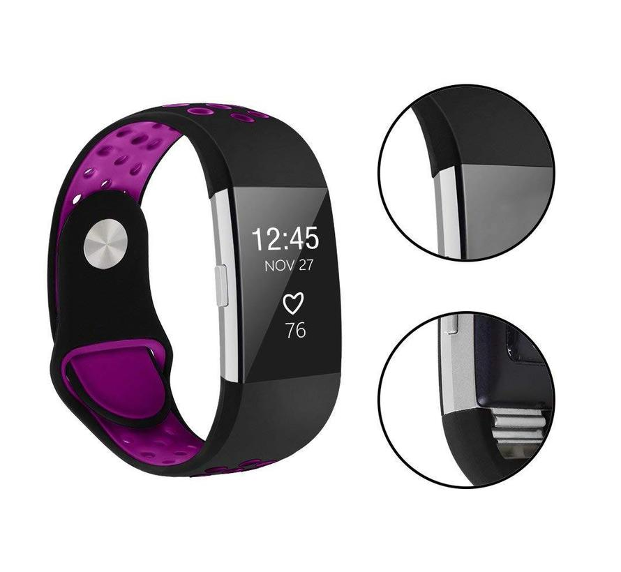 Fitbit charge 2 sport band - zwart paars