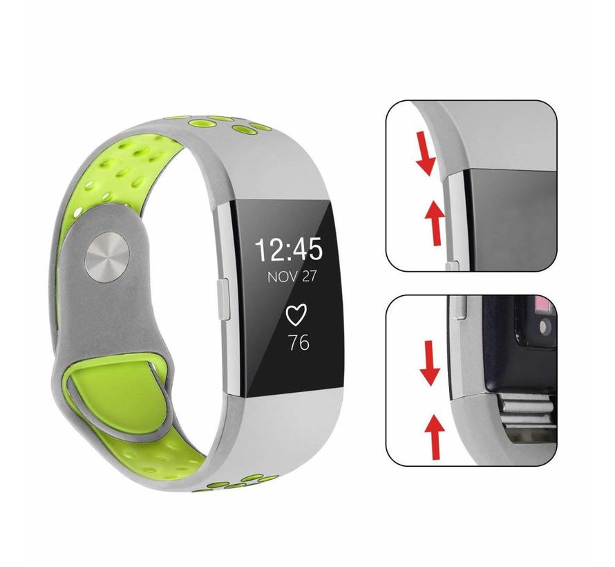 Fitbit charge 2 sport band - grijs geel