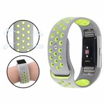 123Watches.nl Fitbit charge 2 sport band - gray yellow