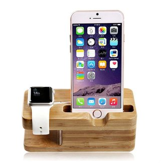 Merk 123watches Apple Watch wooden dock 2 in 1