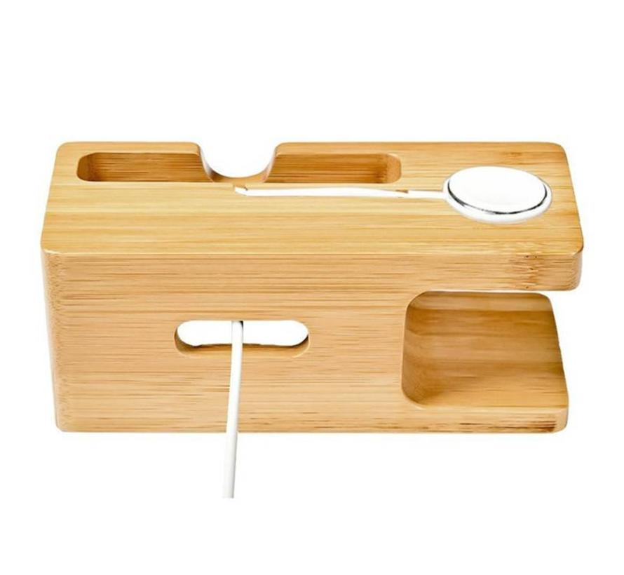Apple Watch houten dock 2 in 1