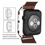 123Watches Apple watch milanese case band - brown