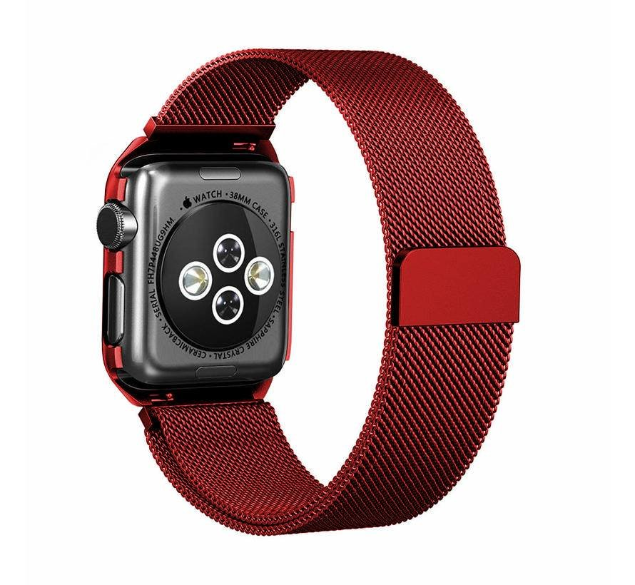 Apple watch milanese case band - rot