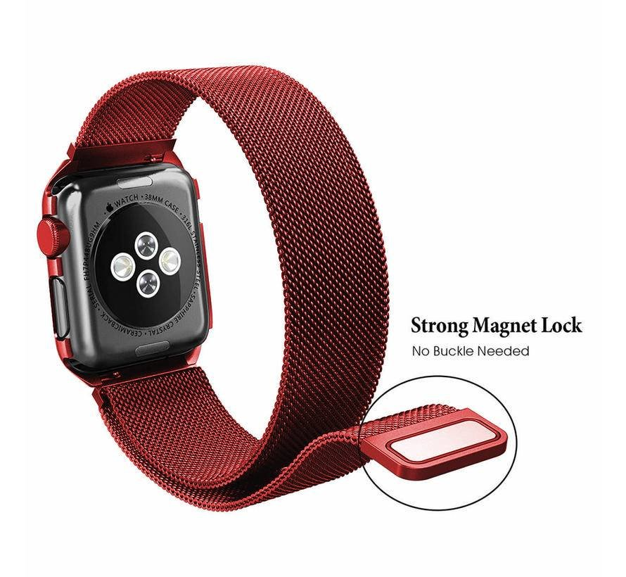 Apple watch milanese case band - rood