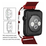 123Watches.nl Apple watch milanese case band - rood