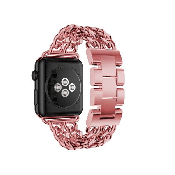 123Watches Apple watch steel cowboy link band - rose red