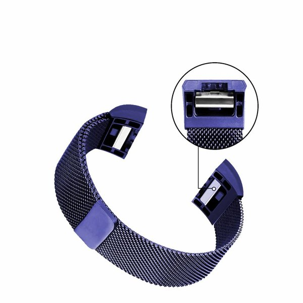 123Watches Fitbit charge 2 milanese band - bleu