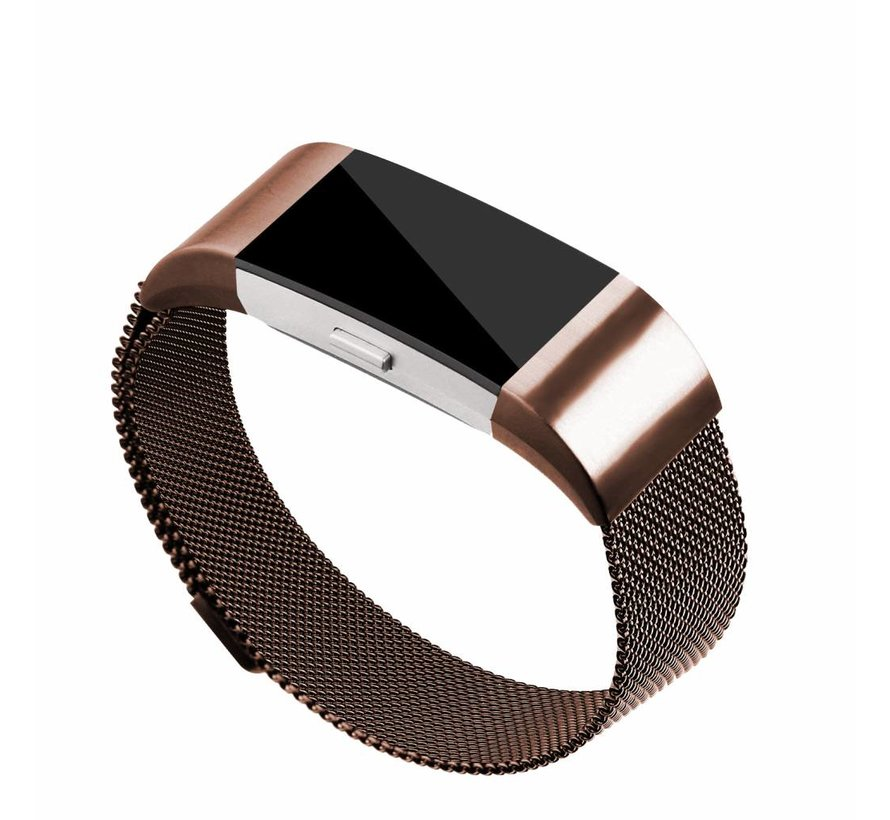 Fitbit charge 2 milanese band - bruin