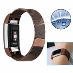 123Watches.nl Fitbit charge 2 milanese band - brown