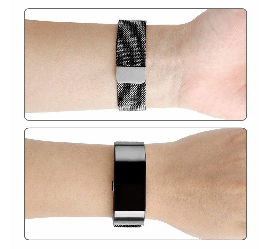 Fitbit charge 2 milanese band - gun zwart