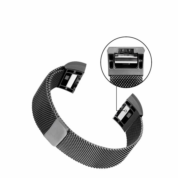 123Watches Fitbit charge 2 milanese band - gun black