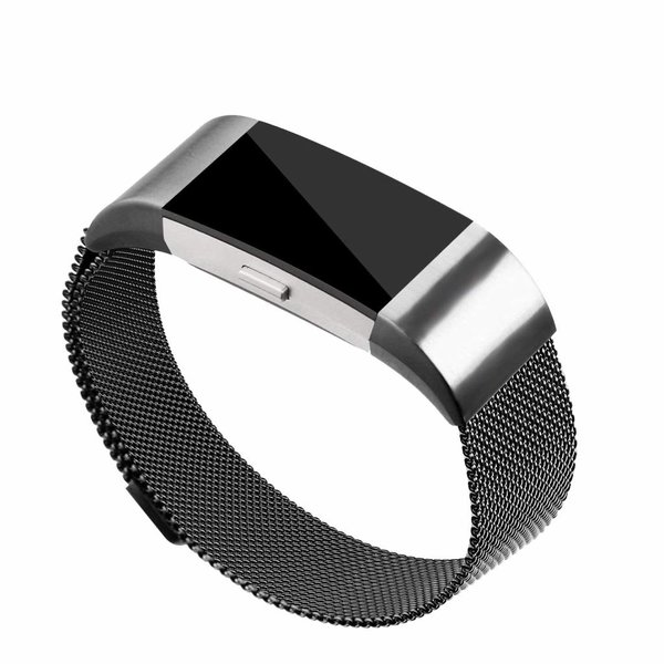 123Watches.nl Fitbit charge 2 milanese band - gun black