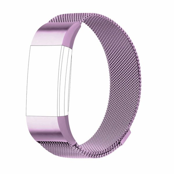 123Watches.nl Fitbit charge 2 milanese band - lavender