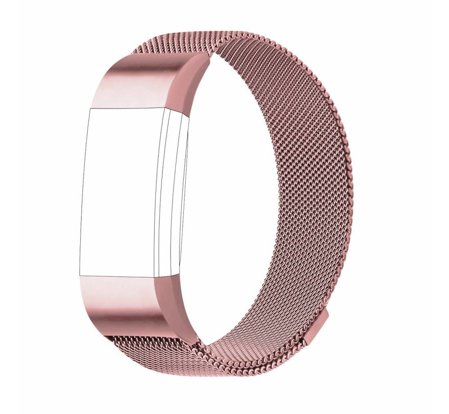Fitbit charge 2 milanese band - roze