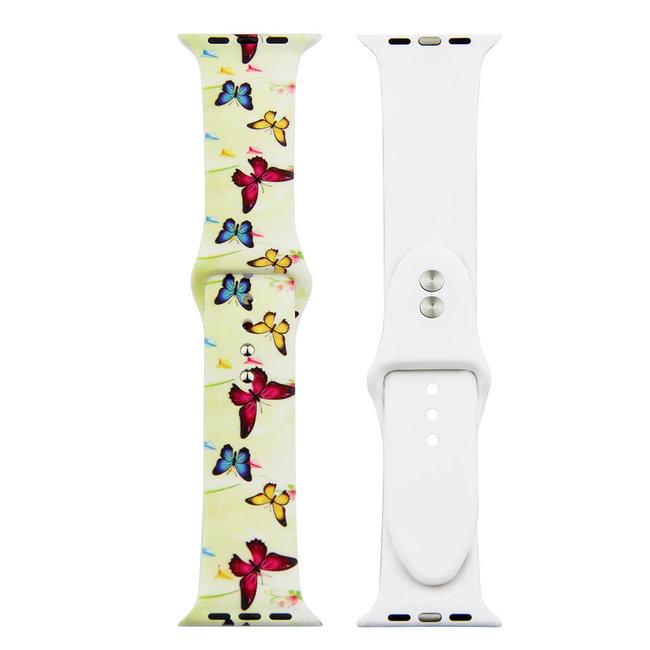 Merk 123watches Apple watch print sport band - vlinder