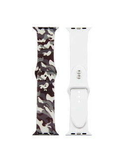 123Watches.nl Apple watch print sport band - camouflage