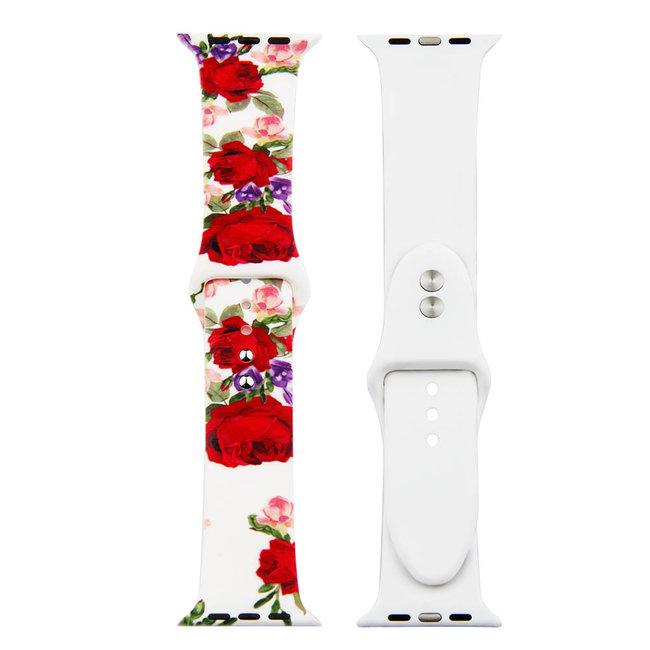 Merk 123watches Apple watch print sport band - roses