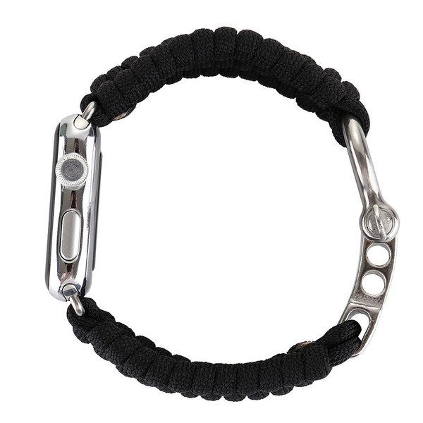 123Watches Apple watch nylon rope band - zwart