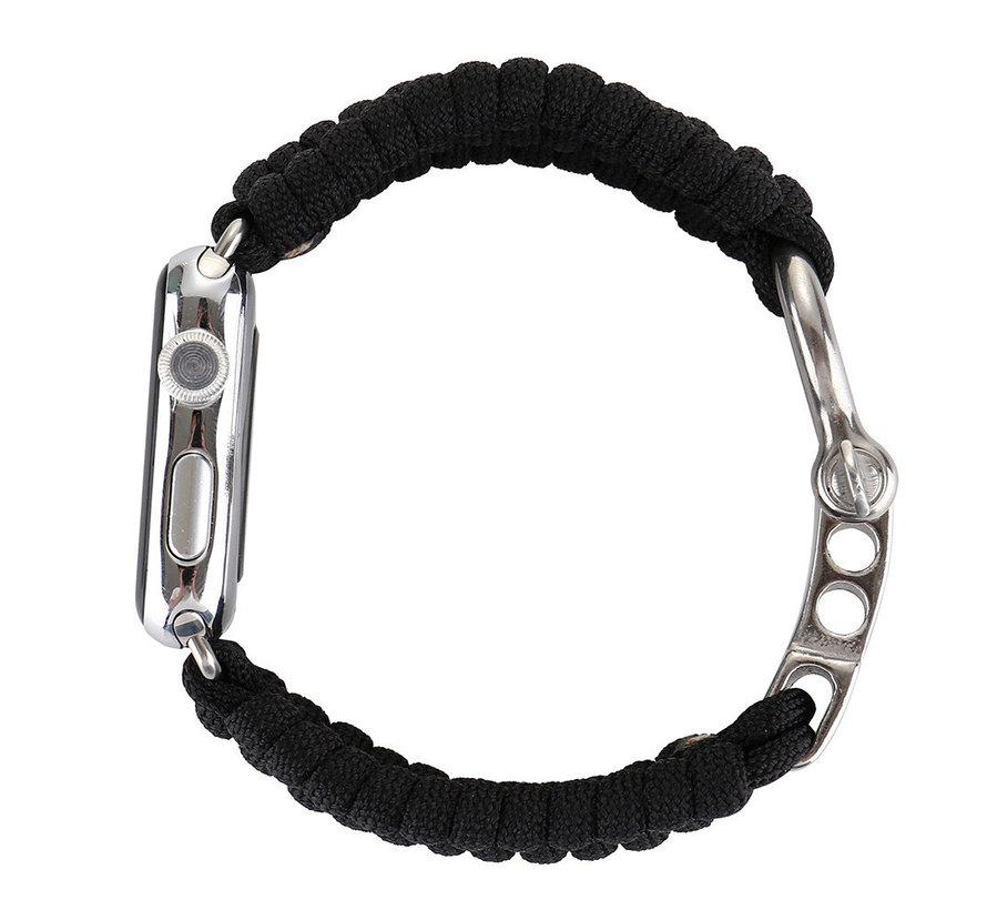 Apple watch nylon rope band - zwart