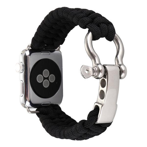 123Watches Apple watch nylon rope band - schwarz