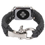 123Watches.nl Apple watch nylon rope band - grijs
