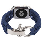 123Watches Apple watch nylon rope band - blauw