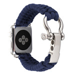 123Watches Apple watch nylon rope band - bleu