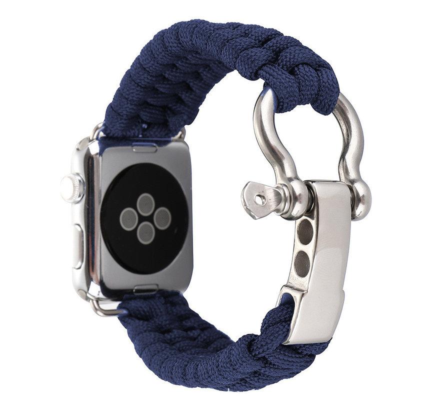Apple watch nylon rope band - blauw