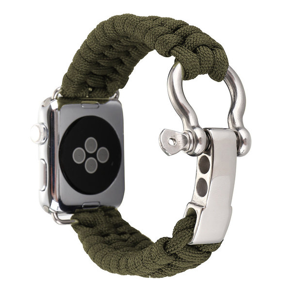 123Watches.nl Apple watch nylon rope band - groen