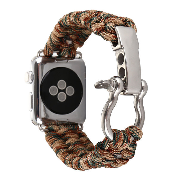 123Watches Apple watch nylon rope band - camouflage marron