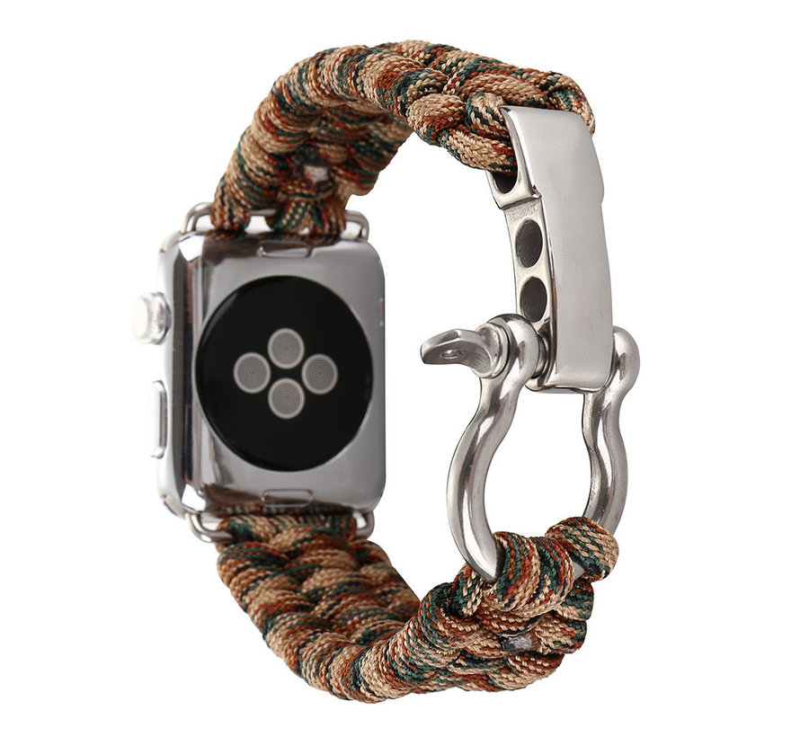 Apple watch nylon rope band - camouflage bruin