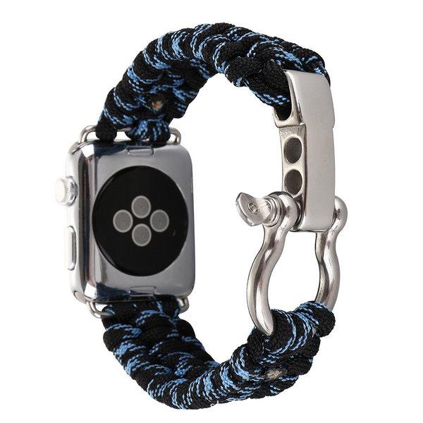 123Watches Apple watch nylon rope band - Tarnung blau