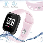 123Watches Fitbit versa silicone band - roze
