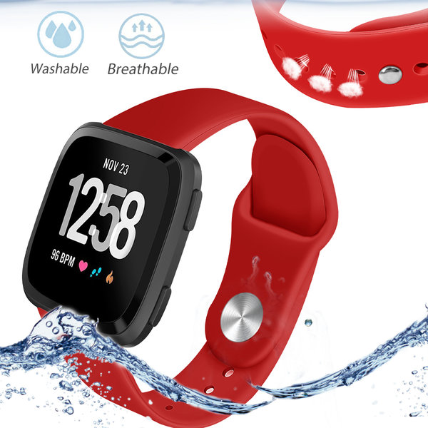 123Watches Fitbit versa silicone sangle - rouge