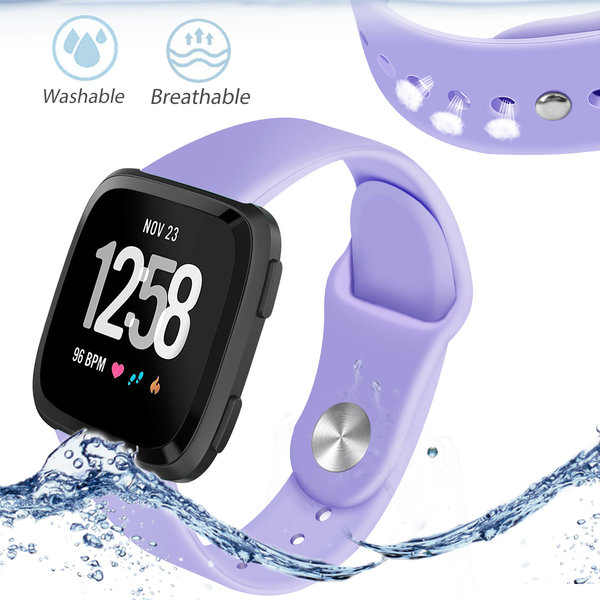123Watches Fitbit versa silicone sangle - violet clair
