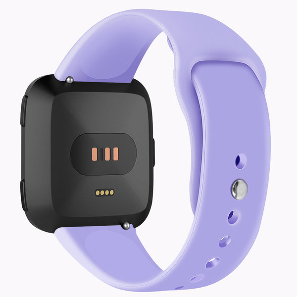 123Watches Fitbit versa silicone band - licht paars