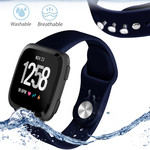 123Watches Fitbit versa silicone band - navy blue